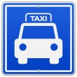 Taxi Blue Sign — Stock Vector #15418571