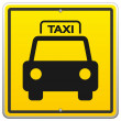 Stock Vector: Taxi Sign in New York