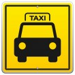 Taxi Sign in New York - Stock Vector