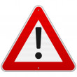 Isolated Alert Triangle Sign — Stock Vector