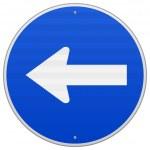 panneau de signalisation directionnelle bleu image vectorielle zager 12704035. Black Bedroom Furniture Sets. Home Design Ideas