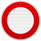 Nie ruchu czerwony znak — Wektor stockowy
