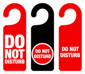 Do Not Disturb Sign — Vector de stock