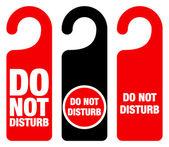 記号を邪魔しないでください。 — ストックベクタ