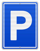 Isolated Parking Sign — Stock Vector