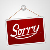 Sorry Storefront Sign — Vecteur