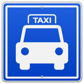 Taxi Blue Sign — Stock Vector