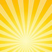 Sarı parlak ışık ışınları — Stok Vektör