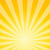 Yellow Bright Light Beams — Vector de stock