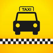 Taxi Cab Symbol on Yellow — Stock Vector
