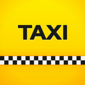 Taxi Word on Yellow Background — Stock Vector