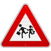 Pedestrian Danger Sign — Stock Vector