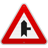Right Junction Sign — 图库矢量图片