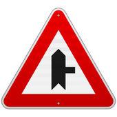 знак правой джанкшен — Cтоковый вектор