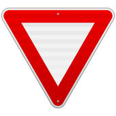 Yield Triangle Sign — Stock Vector