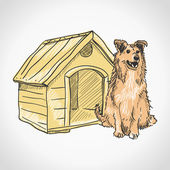 Guard Dog Portrait — Stock Vector