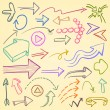 Royalty-Free Stock Imagen vectorial: Arrows Set
