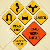 Road Sign Set — Stock Vector