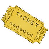 Vintage Cinema Ticket — Stock Vector