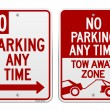 No Parking Sign — Stock Vector