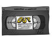 Video Cassette — Stock Vector