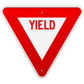 USA Yield Sign — Stock Vector