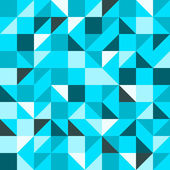 Blue Seamless Triangle Pattern — Stock Vector