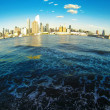 Manhattan Skyline on Hudson — 图库照片