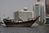 Velho barco em dubai — Foto Stock
