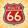 Vintage Route 66 Symbol — Stock Vector
