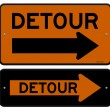 Detour Sign — Stock Vector #27793873