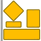 Yellow Roadsigns Set — Stock Vector