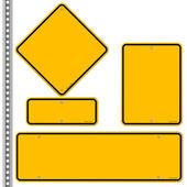 Yellow Roadsigns Set — Stock Vector