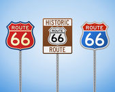 Route 66 Vintage Signs — Stock Vector
