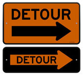 Detour Sign — Stock Vector