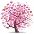 Tree with Hearts — Stock Vector #32513573