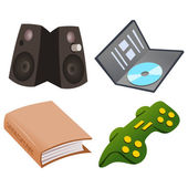 Gaming Icon Set — Stock Vector