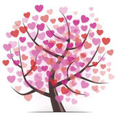 Tree with Hearts — Vector de stock