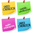 Under Construction Sticky Note — Stock Vector