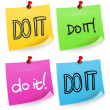 Do It Sticky Note — Stock Vector
