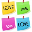 Love Sticky Note — Stock Vector