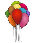 Palloni galleggianti — Vettoriale Stock