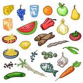 Fresh Healthy Food — Stock Vector