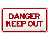 Danger Keep Out Notice — Stock Vector