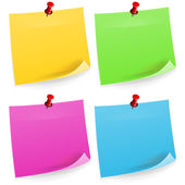 Four Sticky Notes — Stock Vector