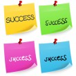 Success Sticky Note — Stock Vector