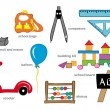 Stock Vector: Kindergarten Toys