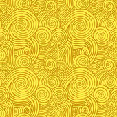 Seamless Yellow Swirls — Stok Vektör