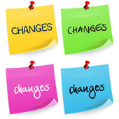 Changes Sticky Note — Stock Vector