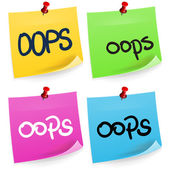 Oops Sticky Note — Stock Vector